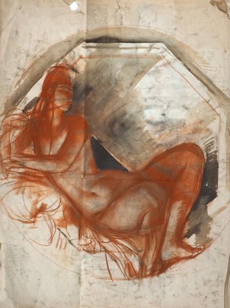 Серебрякова З.Е. (1884-1967). Двусторонняя композиция. Автопортрет. 1910-е гг.