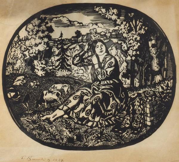 Кустодиев Б.М. Волжская Венера 1926.