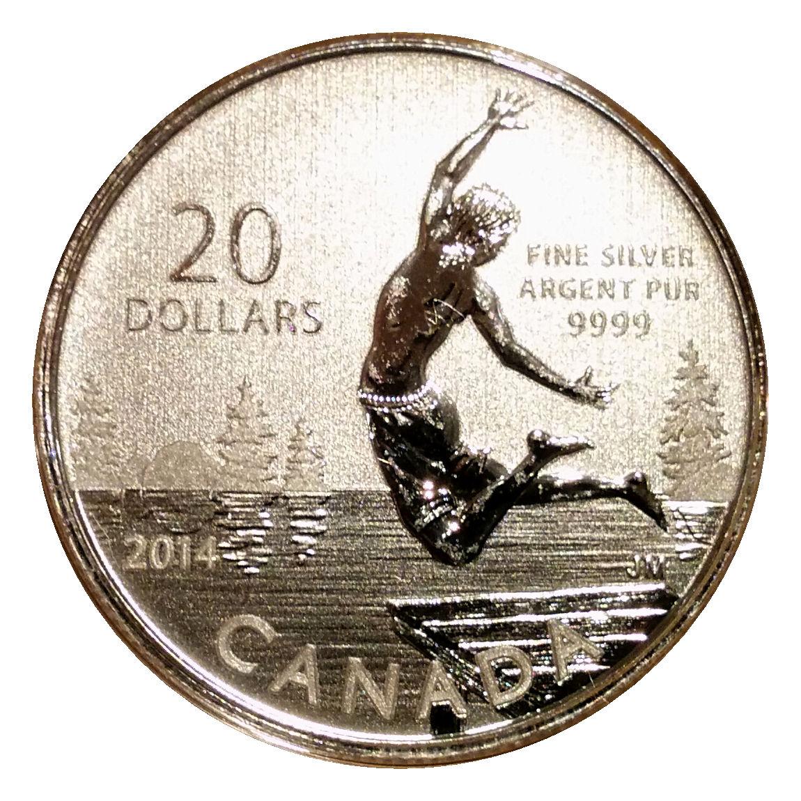 Дух лета (Summertime) - 2004, Канада, 20 долларов, Серебро