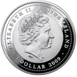 Дед Мороз (Ниуэ) - 09, [7111-0089], Ниуэ, 1 Новозеландский доллар, Серебро, 925